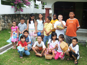 Gregg II's class picture at the Chinese school in Langkawi, Malaysia