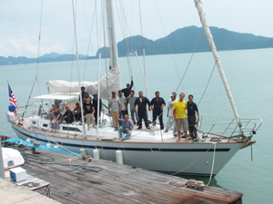 The workmen in Langkawi, on board for the day of completion