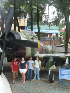 Abandoned U. S. airplane in War Crimes Museum, Saigon, Ho Chi Minh City, Vietnam