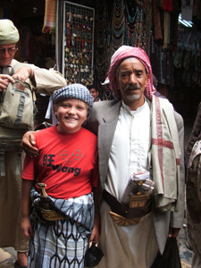 Gregg II and a friend for the picture in Sana'a