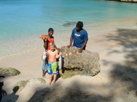 Gregg II with friends on Anguilla