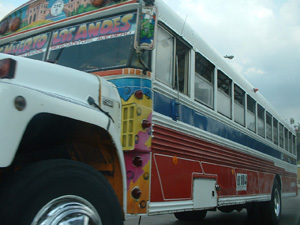 Fancy painted bus of Panama